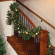 Royal Gold Battery Operated LED Holiday Garland, Warm White Lights