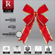 """15"""" Red with Gold Trim Structural 3D Nylon Bow"""