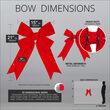 """15"""" Red Imperial 3D Velvet Bow"""