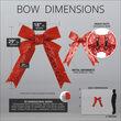 "18"" Red Decorative 3D Glitter Bow"