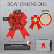 """18"""" Red with Gold Trim Blooming Puff Nylon Bow"""