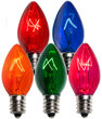 C7 Multicolor Triple Dipped Transparent Bulbs
