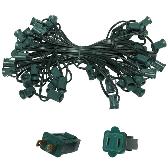 E12 - Candelabra Light Stringer, Green Wire