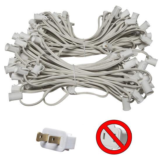 E12 - Candelabra Light Stringer, White Wire