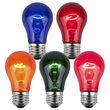 A15 Multicolor Transparent Bulbs, E26 - Medium Base