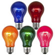 A19 Multicolor Transparent Bulbs, E26 - Medium Base
