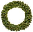 """48"""" Tiffany Prelit Wreath, 150 Multicolor Mini Lights"""