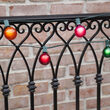 Commercial Multicolor Satin Party Lights, G50 E12 - Candelabra Bulbs on Green Wire