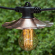 Commercial Clear Patio String Lights, A75 E26 - Medium Bulbs on Black Wire
