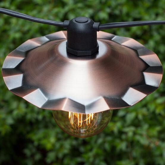 E26 - Medium Light Patio Stringer, Black Wire