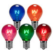 S11 Multicolor Triple Dipped Transparent Bulbs, E17 - Intermediate Base