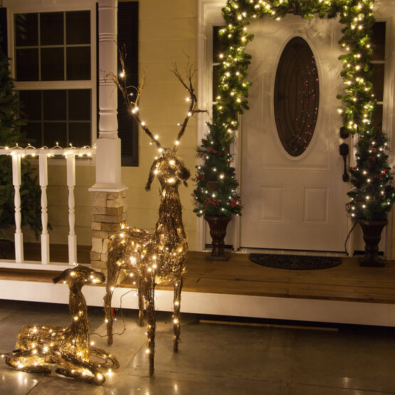48 grapevine standing reindeer 200 cool white led lights