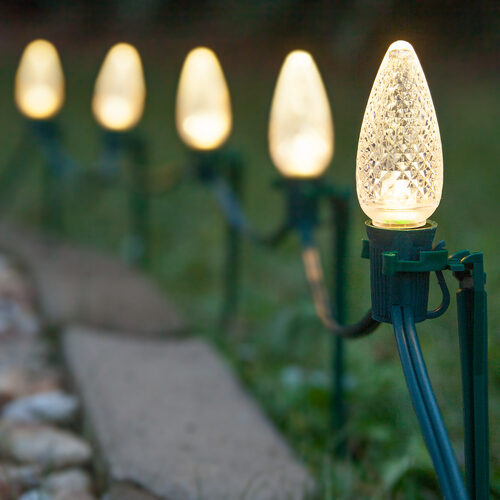C9 Warm White Christmas LED Pathway Lights - Christmas Lights - C9 Warm White Christmas LED Pathway Lights