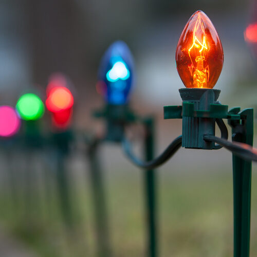c7 multicolor christmas pathway lights