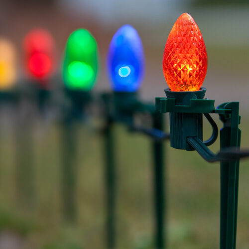 C7 Led Christmas Lights.Christmas Lights C7 Multicolor Christmas Led Pathway Lights Wintergreen Corporation