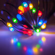 Multicolor Battery Operated Fairy LED Lights, Green Wire