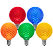 G50 Multicolor OptiCore LED Globe Light Bulbs, E12 - Candelabra Base
