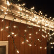 100 Clear Mini Icicle Lights on Green Wire