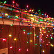 100 Multicolor Mini Icicle Lights on Green Wire
