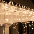 150 Clear Twinkle Mini Icicle Lights on White Wire