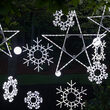 Folding Snowflake, Cool White Twinkle Lights