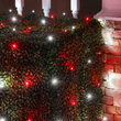 4' x 6' Red, Cool White 5mm LED Christmas Net Lights, 100 Lights on Green Wire