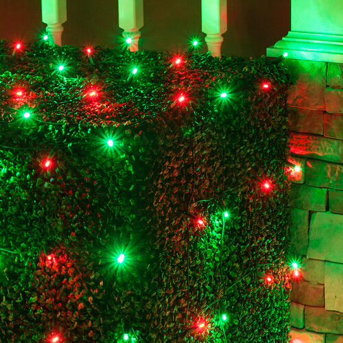 4 x 6 red green 5mm led christmas net lights 100 lights