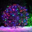 """15"""" Multicolor LED Light Ball, Fold Flat Brown Frame"""