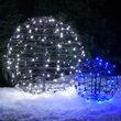 """15"""" Cool White LED Light Ball, Fold Flat Brown Frame"""
