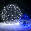Blue LED Light Ball, Fold Flat Brown Frame