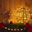Warm White LED Light Ball, Fold Flat Brown Frame