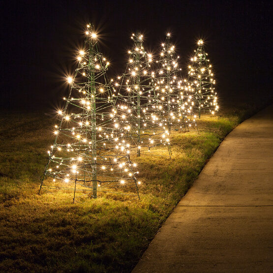 Lighted Warm White LED Outdoor Christmas Tree ...