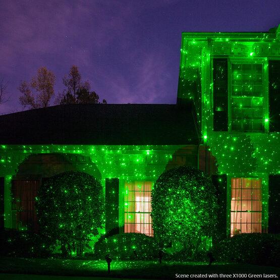 Green X1000 Laser Light, Moving