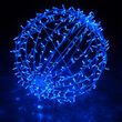 Blue LED, Commercial Mega Sphere Light Ball, Fold Flat