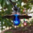 48' Commercial Multicolor Patio String Light Set with 15 S14 Bulbs on Black Wire