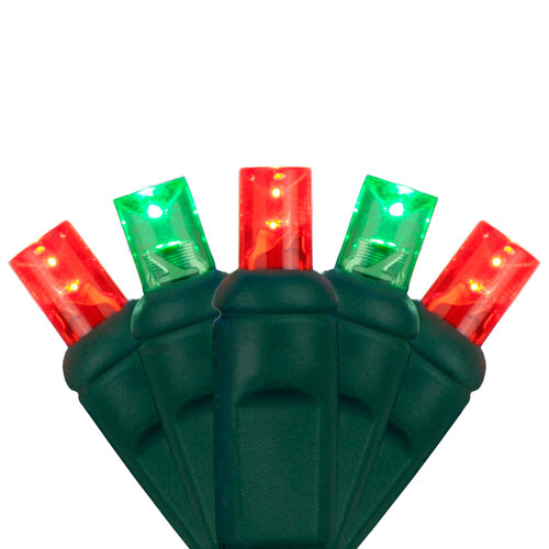 5mm wide angle red green led christmas lights on green wire