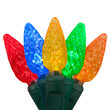 C6 Strawberry Multi Color LED Christmas Lights on Green Wire