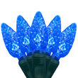 C6 Strawberry Blue LED Christmas Lights on Green Wire