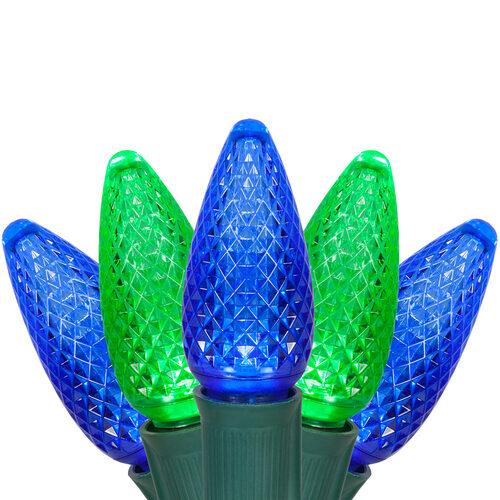 C9 Blue / Green Commercial LED Christmas Lights - Christmas Lights - C9 Blue / Green Commercial LED Christmas Lights