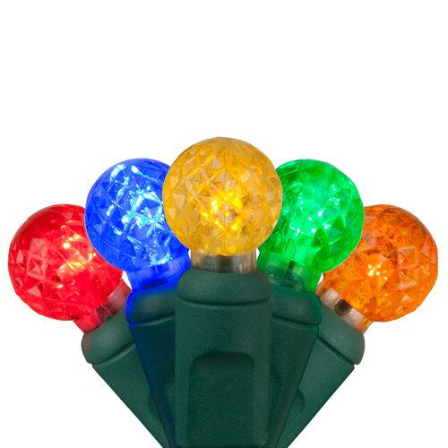 Led Christmas Lights Color.G12 Razzberry Multi Color Led Christmas Lights On Green Wire Wintergreen Corporation