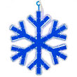 """16"""" 18 Point Snowflake with Blue Acrylic Center, Blue Lights"""