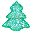 LED Dimensional Christmas Tree, Green Lights