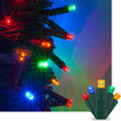 Kringle Traditions 5mm Multicolor LED Christmas Lights on Green Wire