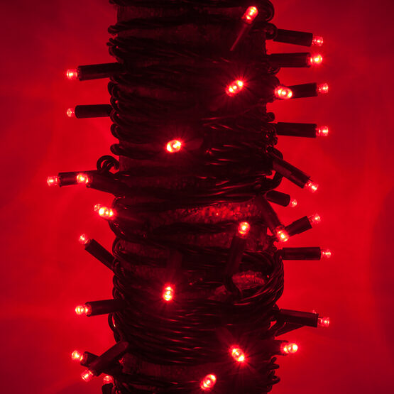 Kringle Traditions 5mm Red Led Christmas Lights Green Wire 6 Spacing Balled Set Wintergreen Corporation