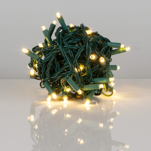 Kringle Traditions 5mm Warm White Led Christmas Lights Green