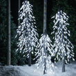 Cool White LED Frosted Alpine Wisp Tree