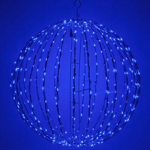 Blue Led Light Ball Fold Flat Frame