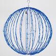 Blue LED Light Ball, Fold Flat Blue Frame