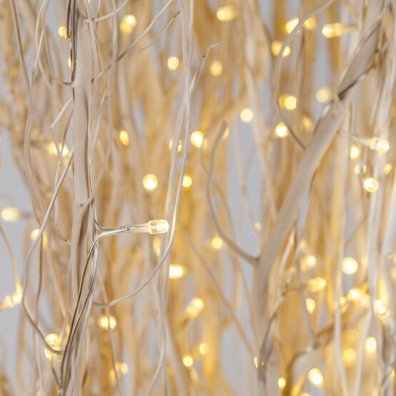 white lighted full willow branches warm white led