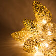 Battery Operated LED Iridescent Pinecone String Lights, 10 Warm White Lights